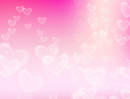dreamlike: Valentines Day background. Heart flying in soft pink background.
