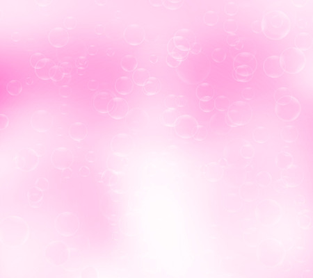 foaming: Water bubbles.Abstract bubbles on pink background
