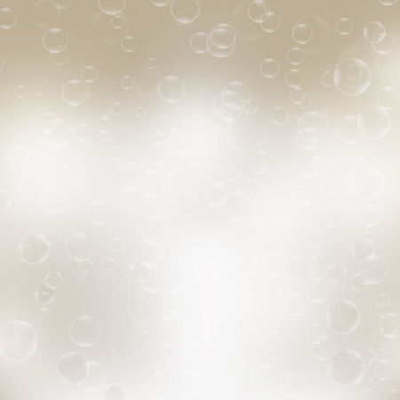 foaming: Water bubbles.Abstract bubbles on gray background Stock Photo