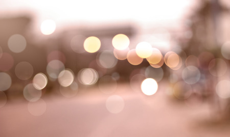 Defocused city night filtered bokeh abstract background. photo