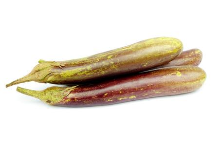 aubergine: eggplant or aubergine vegetable on white background