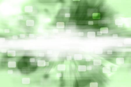 Squares Bokeh on green background. photo