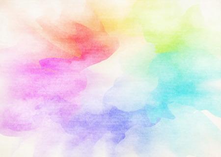 カラフルな水彩。グランジ テクスチャ背景。 写真素材