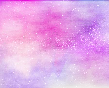 galaxie: Bunte Aquarell. Grunge-Textur Hintergrund.