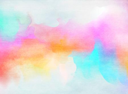 arco iris: Acuarela colorido abstracto para el fondo. Foto de archivo
