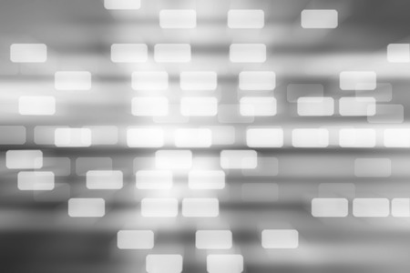 tecnology: Blurred Squares bokeh on gray abstract background