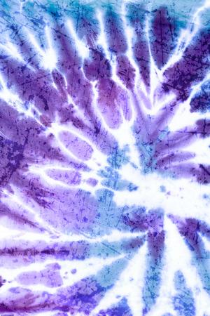 Creative double exposure Grung texture with tie dye textile Standard-Bild