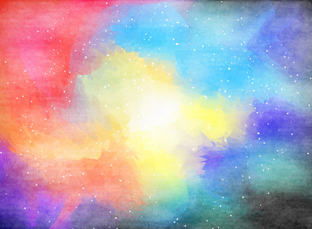 Aquarell Outer Space. Standard-Bild - 41934724