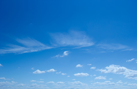 blue clouds: Blue sky background with cloudy. Stock Photo