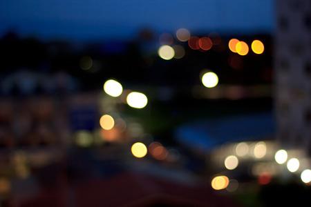 city at night: Blurred city night background.Outdoor blurred dark tone. Stock Photo