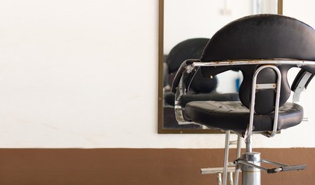 hair studio: The black chair in beauty salon