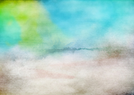 overflowing: Abstract colorful watercolor for background.