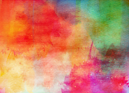 color illustration: Abstract colorful watercolor for background.