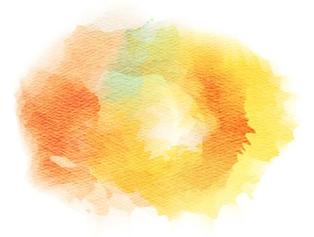 orange color: Abstract watercolor splash. Watercolor drop.