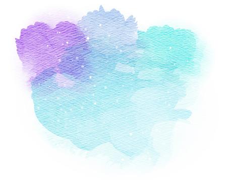 Abstract watercolor splash. Watercolor drop.