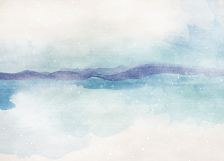 blue sea: Abstract colorful watercolor for background. summer beach.