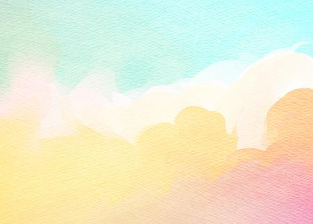 배경 추상 다채로운 수채화.