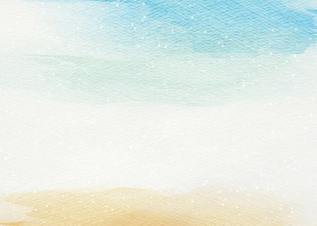 sand beach: Abstract colorful watercolor for background.