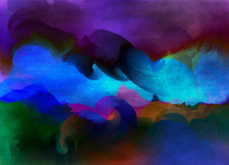 overflowing: Abstract watercolor for background.