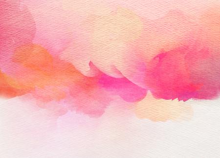 astratto: Acquerello astratto colorato per lo sfondo. Archivio Fotografico