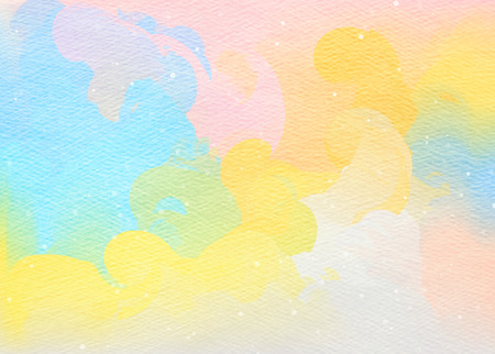 color water: Abstract colorful watercolor for background.