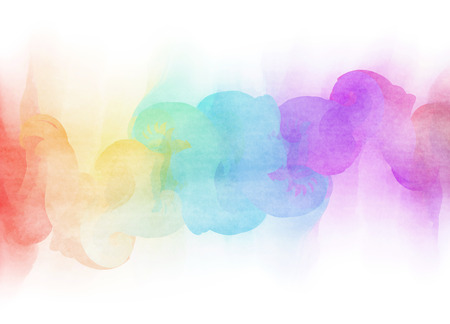 Abstract colorful water color for background. Stock Photo - 45473450