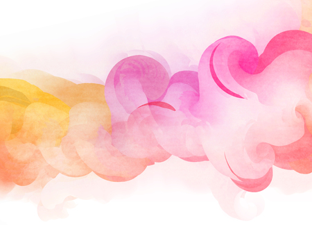 overflowing: Abstract colorful watercolor for background. Digital art painting.