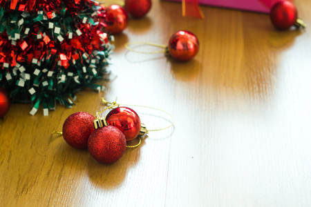 turns of the year: Merry Christmas and happy new year  decoration.