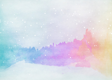 snow white: Abstract colorful watercolor for background. Digital art painting.