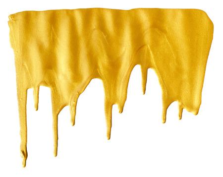 blot: Blot of golden  isolated on white background Stock Photo