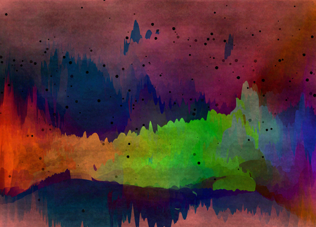 psyco: Abstract colorful watercolor for background. Digital art painting.