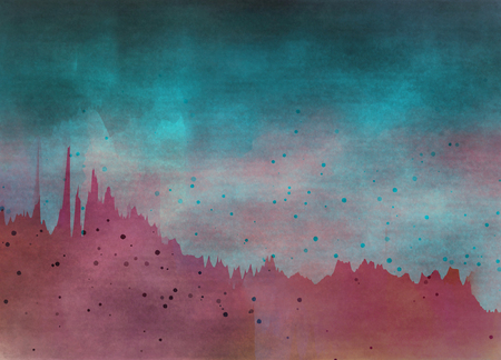 psy: Abstract colorful watercolor for background. Digital art painting.
