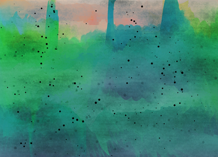 mistery: Abstract colorful watercolor for background. Digital art painting.