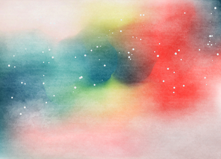 rainbow background: Abstract colorful watercolor for background. Digital art painting.