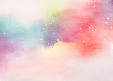 rainbow colors: Abstract colorful watercolor for background. Digital art painting.