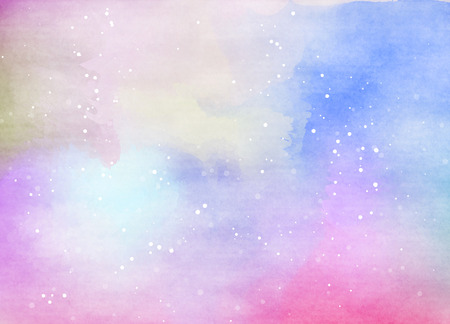 star sky: Abstract colorful watercolor for background. Digital art painting.