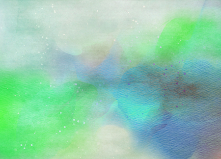 green water: Abstract colorful water color for background. Digital art painting.