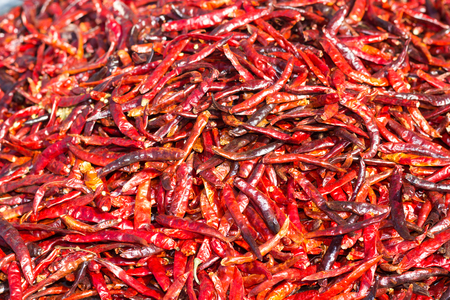red chilli: Dried red chilli. Stock Photo