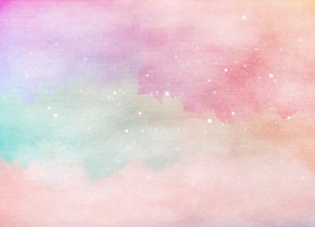 Abstracte kleurrijke aquarel achtergrond. Het digitale kunst schilderen. Stockfoto