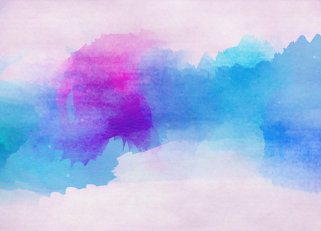 blue paint: Abstract colorful watercolor background. Digital art painting.