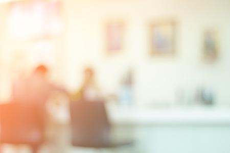 Office blurred background and defocused for presentation. Standard-Bild