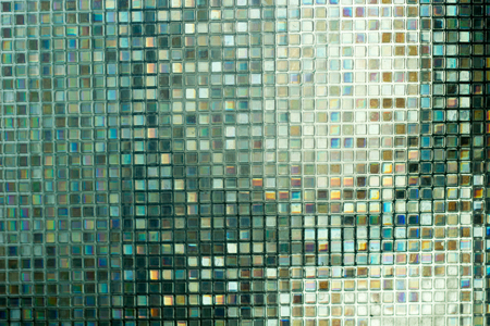 mosaic: Glass mosaic in the bathroom. Stock Photo