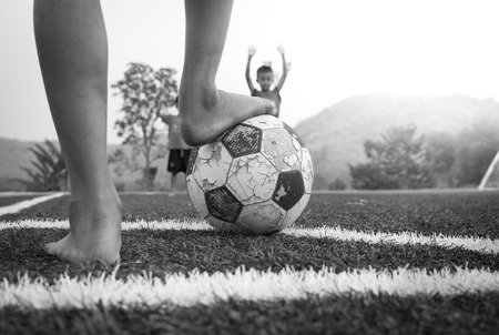 conner: Conner kick in soccer game. Stock Photo