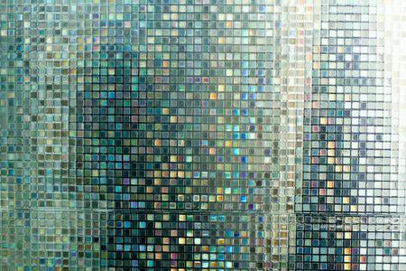 mosaic: Glass mosaic in the bathroom. Stock Photo