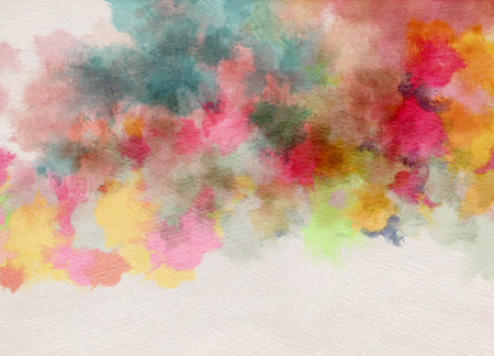 overflowing: Abstract watercolor background. Abstract colorful digital art painting. Stock Photo