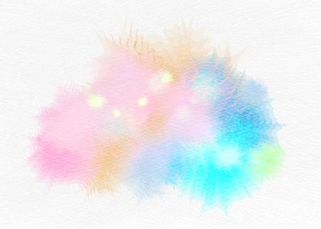 Abstract watercolor splash. Watercolor drop. Digital art painting. Stock Photo