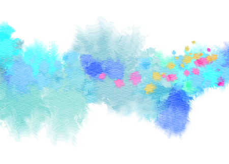 abstract art background: Abstract watercolor background. Abstract colorful digital art painting. Stock Photo