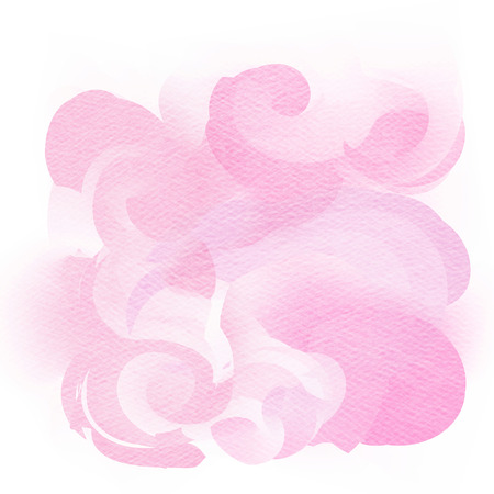 art painting: Pink watercolor background. Digital art painting. Stock Photo