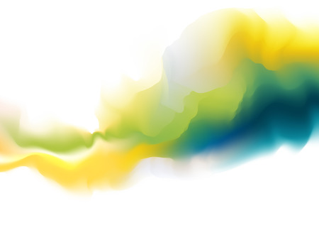 light green: Abstract colorful watercolor background. Digital art painting.
