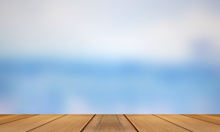 wooden board: Wooden board with Motion on blue background, Wooden board with Blue Abstract background. Stock Photo